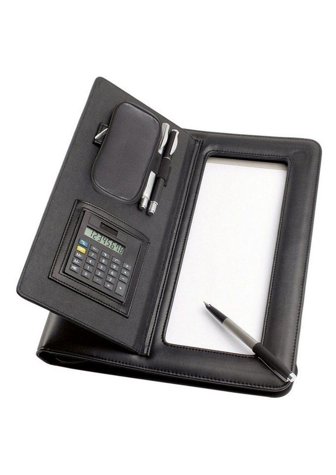 Alassio® Ringbuchmappe mit Reißverschluss A4, »Imola« in schwarz