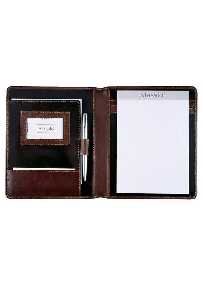 Alassio® Schreibmappe aus pflanzlich gegerbtem Leder A5, »Monaco« in braun