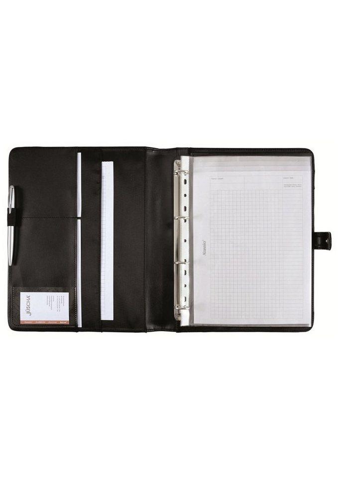 Alassio® Ringbuchmappe A4, »Fano« in schwarz