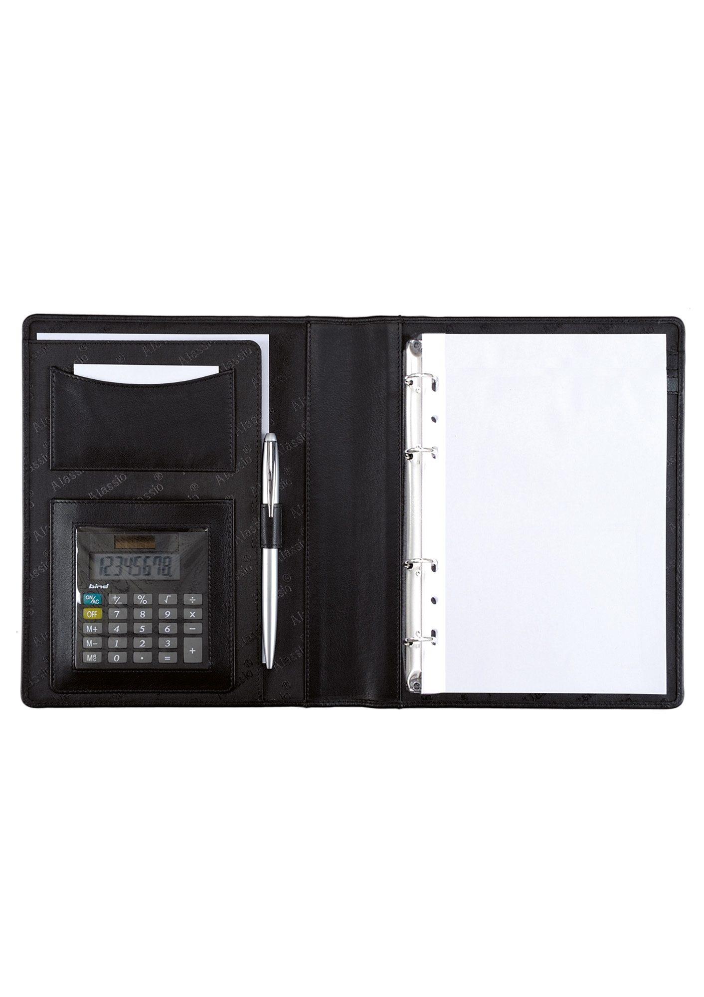 Alassio® Ringbuchmappe mit Taschenrechner A5, »Benaco«