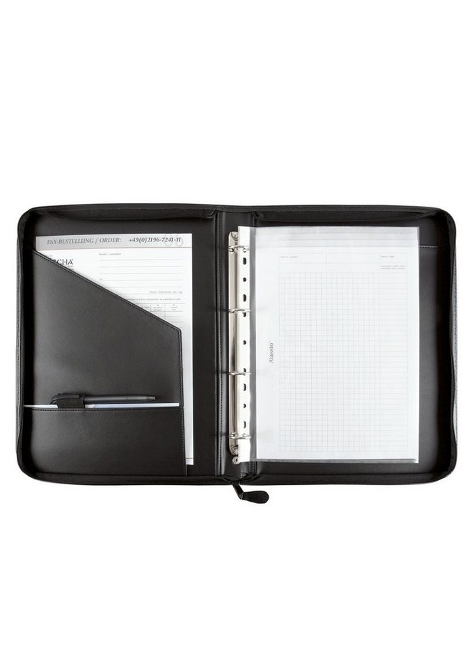 Alassio® Ringbuchmappe mit Reißverschluss DIN A4, »Prato« in schwarz