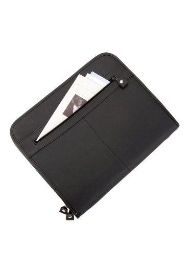 Alassio® Aus Reißverschluss Schreibmappe A4 Mit Leder »milano« wp7RCqw