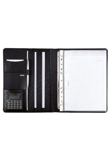 Aus Taschenrechner Nappaleder Mit Ringbuchmappe Alassio® A4 »cremona« 6Sq5vWx
