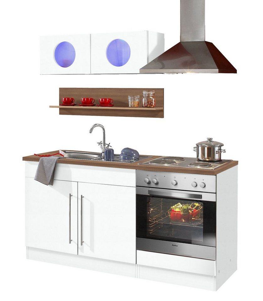 Küchenzeile »Keitum«, mit E-Geräten, Breite 160 cm | OTTO