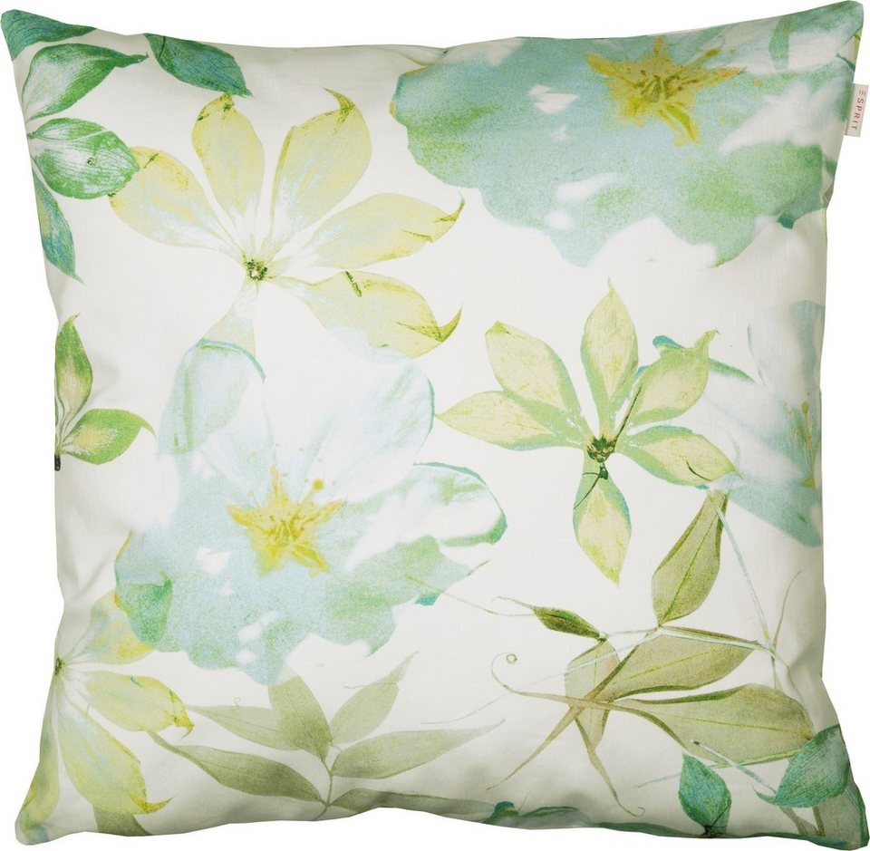 Kissenhülle, Esprit, »Lakeside Waterlilies« (1 Stück) in green
