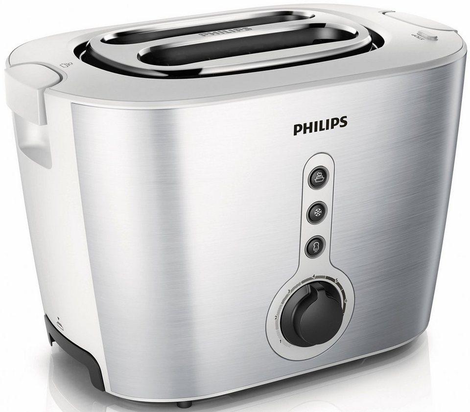 Philips Toaster HD2636/00 Viva Collection, 1000 Watt, edelstahl/weiß in edelstahl/weiß