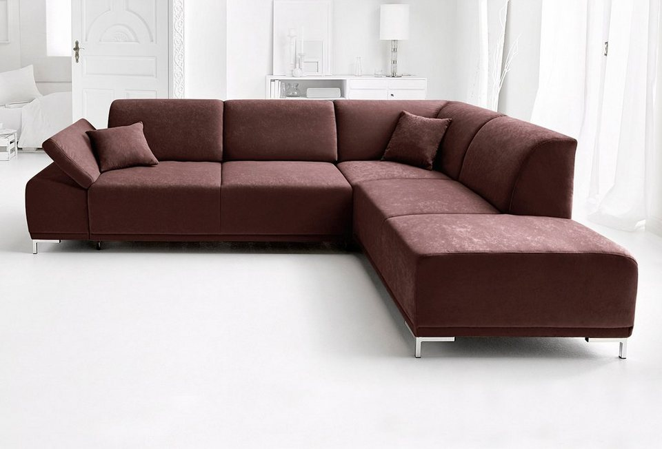 domo collection ecksofa wahlweise mit sitztiefenverstellung online kaufen otto. Black Bedroom Furniture Sets. Home Design Ideas