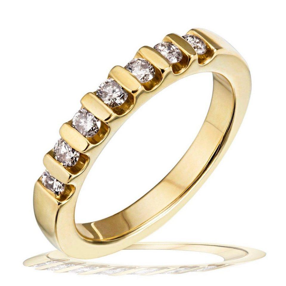 goldmaid Damenring Gold 585/- Memoire Brillanten 0,40 ct. in goldfarben