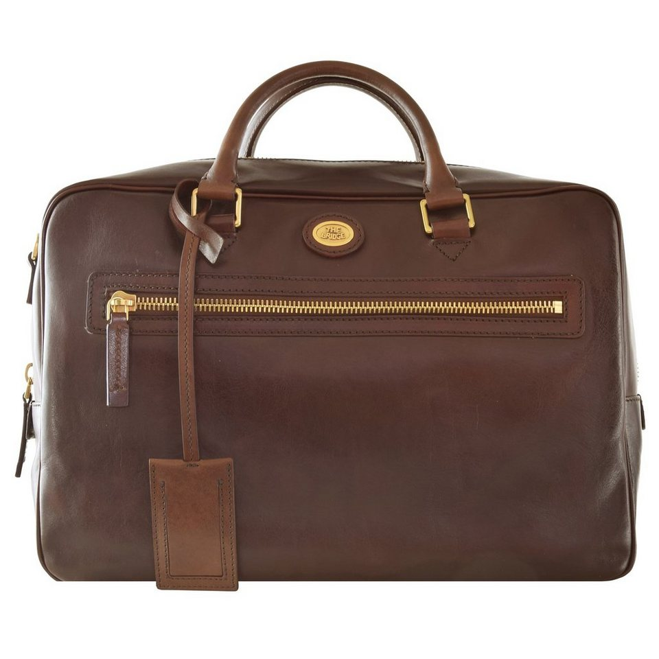 The Bridge Story Uomo Handtasche Leder 40 cm in marrone