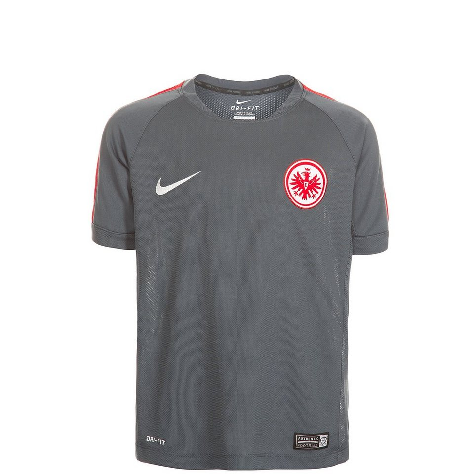 NIKE Eintracht Frankfurt Trainingsshirt Squad Kinder in grau / rot