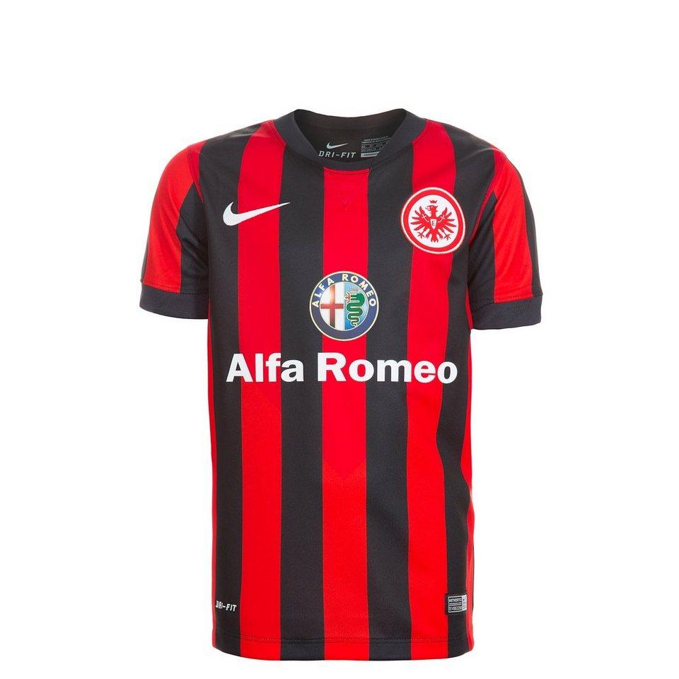 NIKE Eintracht Frankfurt Trikot Home Stadium 2014/2015 Kinder in schwarz / rot