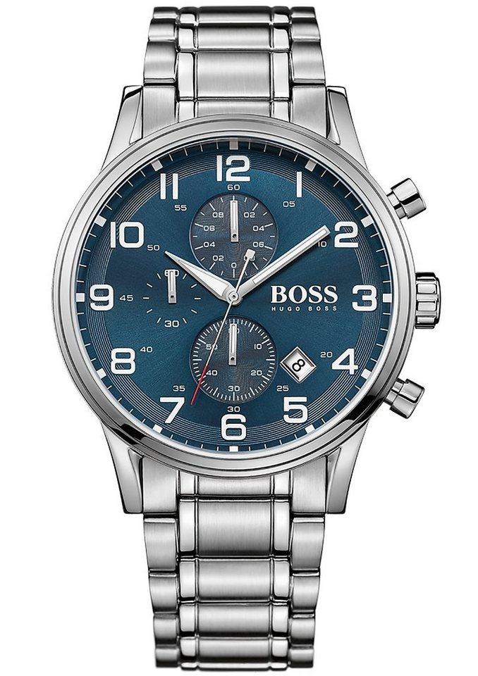 Boss Chronograph »AEROLINER CHRONO, 1513183« in silberfarben