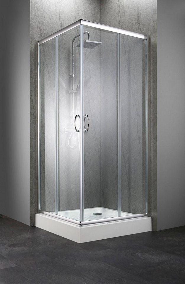Komplett-Set: Eckdusche »Summer«, Eckeinstieg, 90 x 90 cm, inkl ...