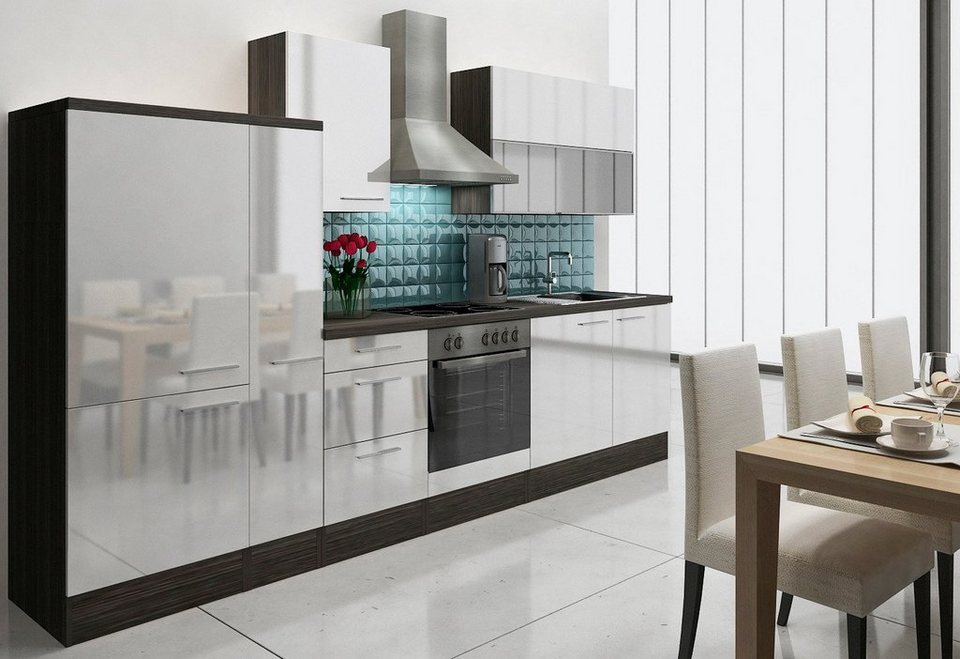 k chenzeile mit e ger ten lea breite 310 cm korpus. Black Bedroom Furniture Sets. Home Design Ideas