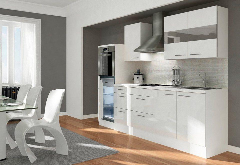 respekta k chenzeile mit e ger ten premium gesamtbreite 270 cm online kaufen otto. Black Bedroom Furniture Sets. Home Design Ideas