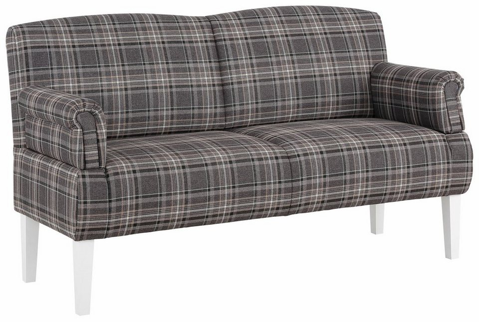 Home affaire Küchensofa »Paisley«, 3-Sitzer in grau/braun