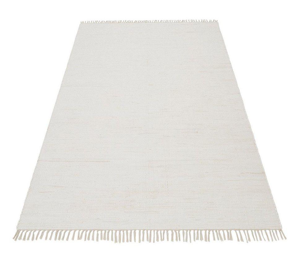 Teppich baumwolle  Teppich, »Handweb Uni«, Home affaire Collection, handgewebt, reine ...