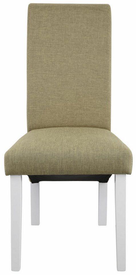 Home affaire Stuhl »Rito Tiago«, mit Strukturstoff, im 2er, 4er, oder 6er- Set in grün