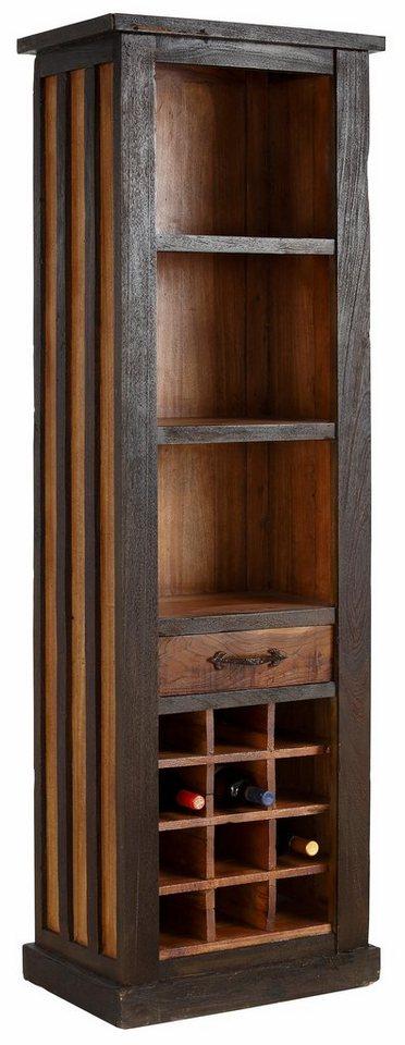 Premium collection by Home affaire Regal »Fortezza«, Breite 60 cm in natur/dunkel gebeizt