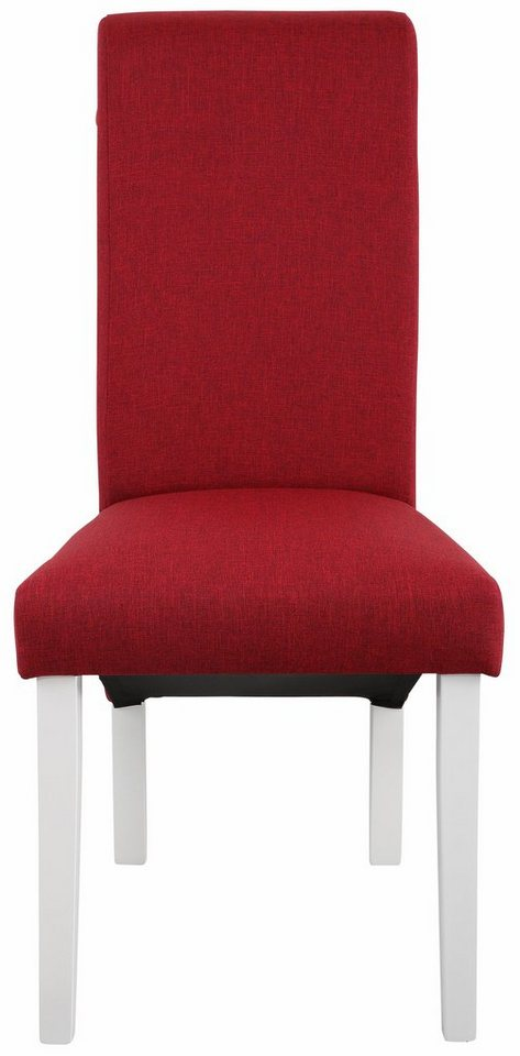 Home affaire Stuhl »Rito Tiago«, mit Strukturstoff, im 2er, 4er, oder 6er- Set in rot