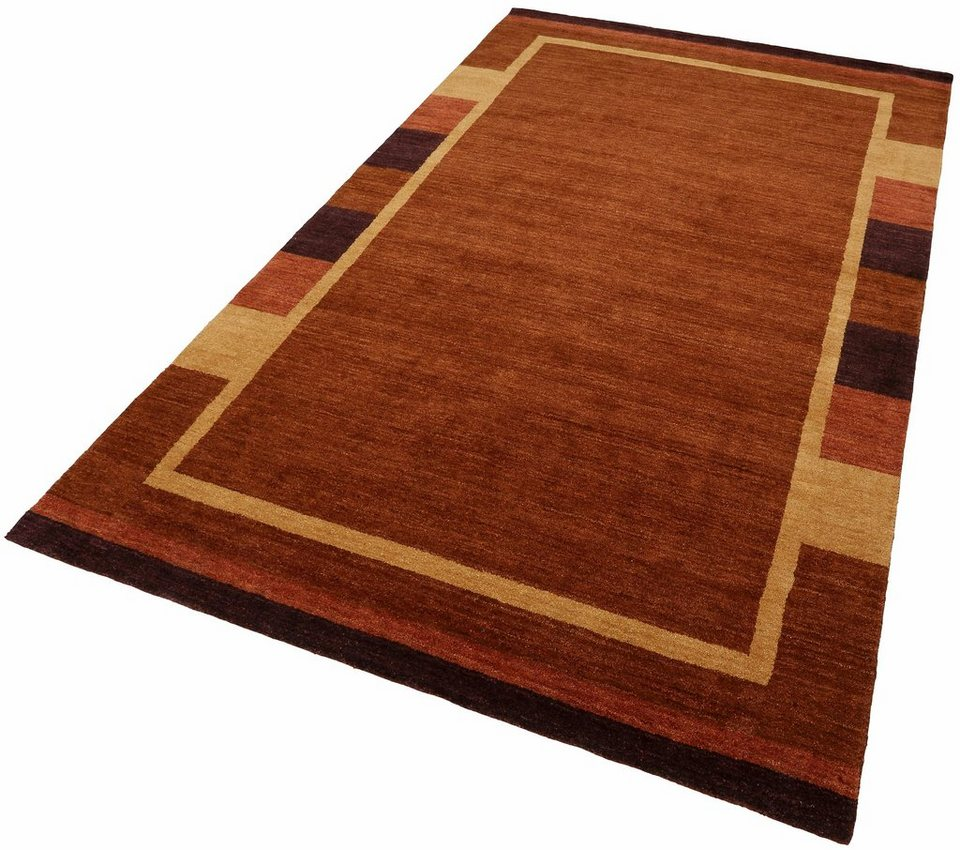 Teppich, Luxor Living, »Floreffe«, handgeknüpft, Wolle in terra