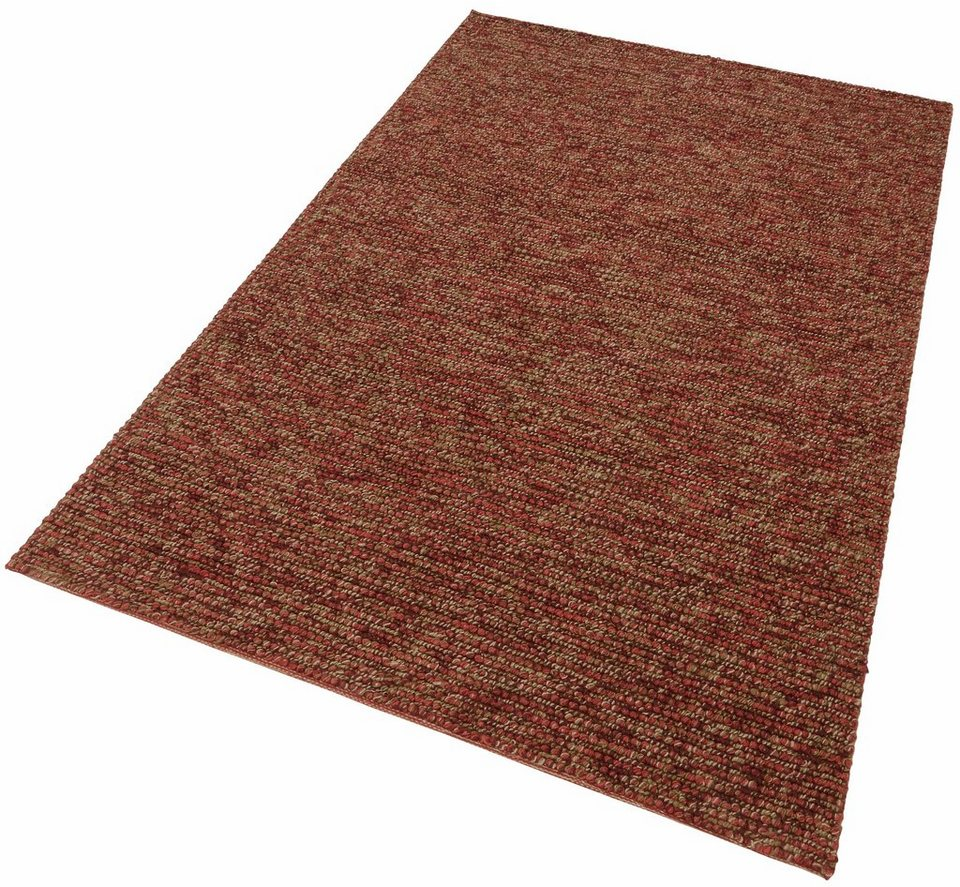 Jute-Teppich, Home affaire Collection, »Pebbles«, handgewebt in rot