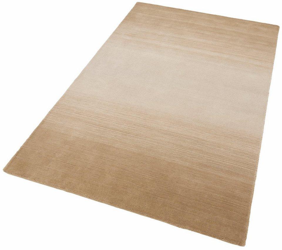 Teppich, Theko, »Wool Comfort«, handgearbeitet, Wolle in beige