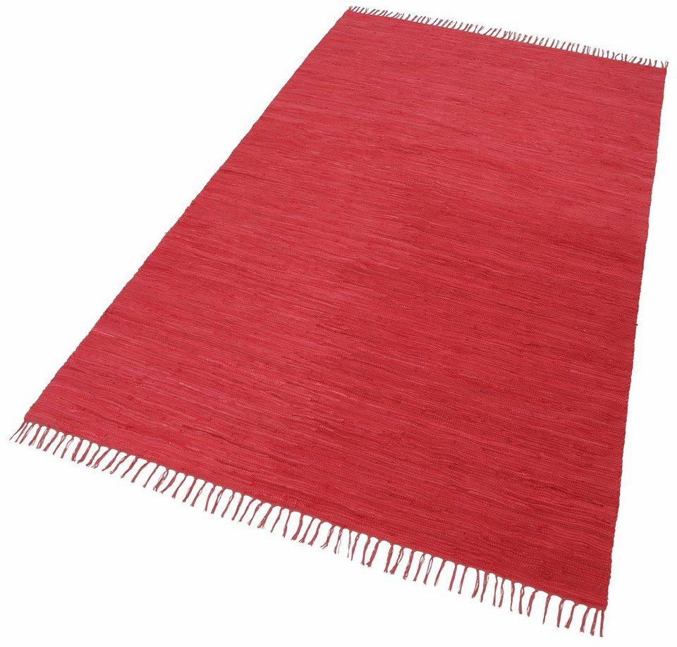 Teppich, Theko, »Happy Cotton«, MelangeEffekt, handgewebt