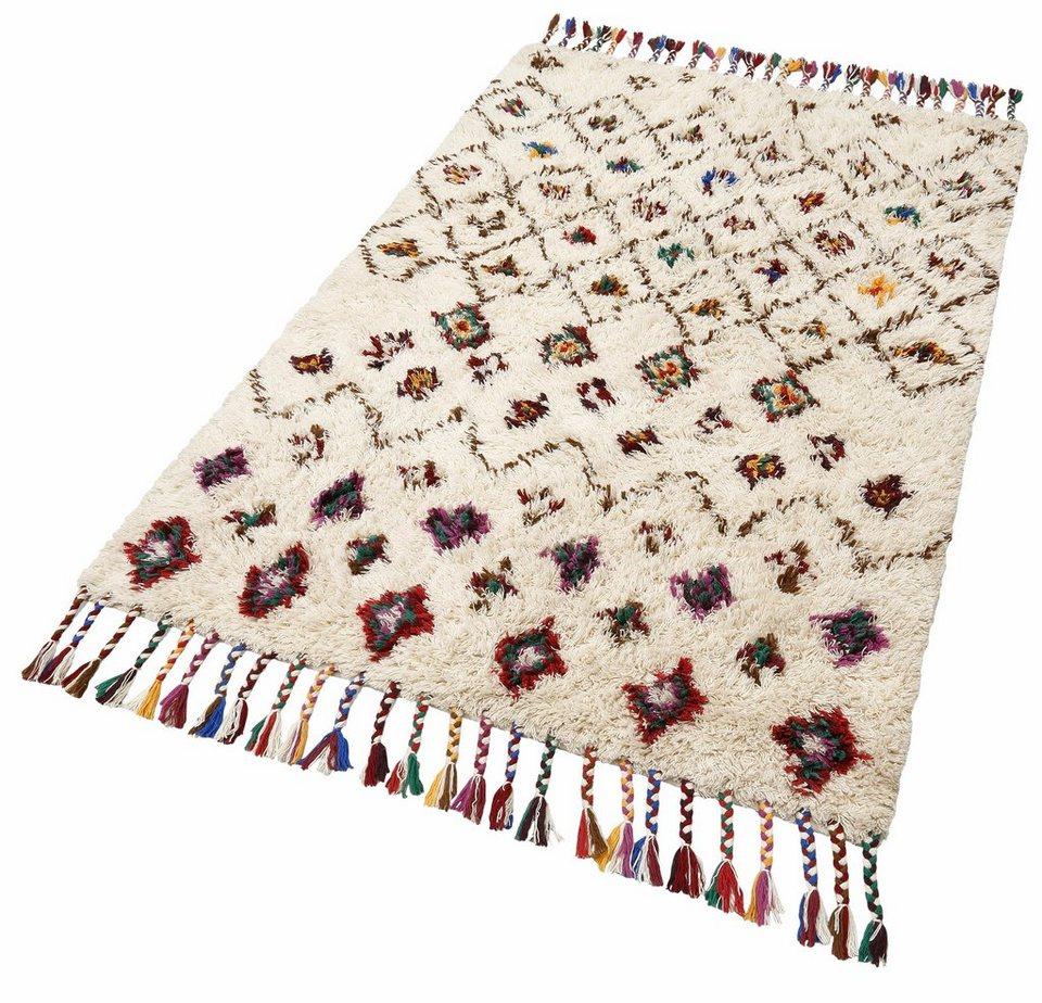 Orient-Teppich, Theko, »Nomadic 1«, handgewebt, reine Schurwolle in beige