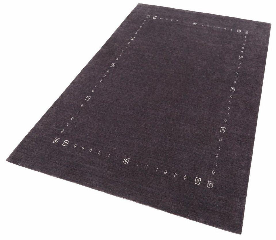 Orient-Teppich, Theko, »Lori Dream 2«, handgeknüpft, reine Schurwolle in grau