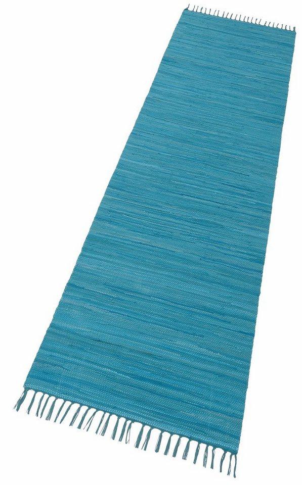 Teppich läufer türkis  Läufer »Happy Cotton Fleckerl«, Theko, rechteckig, Höhe 5 mm ...