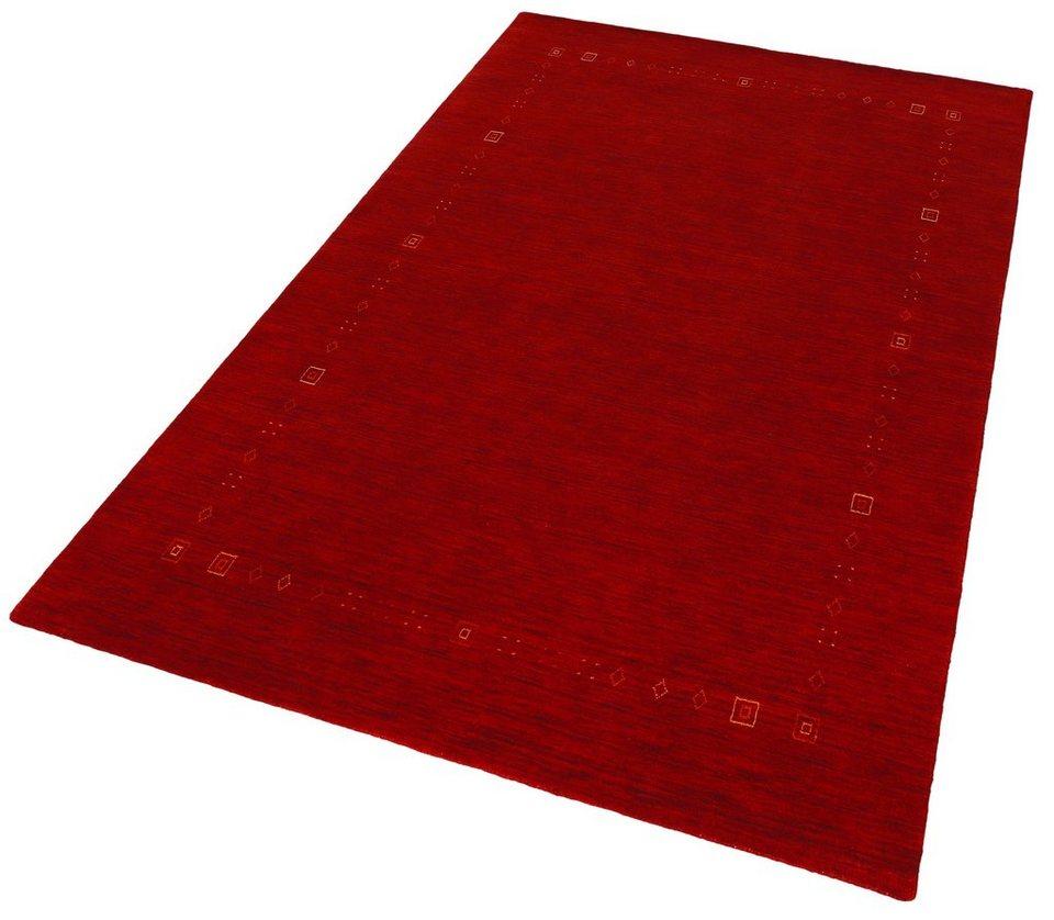 Orient-Teppich, Theko, »Lori Dream 2«, handgeknüpft, reine Schurwolle in rot