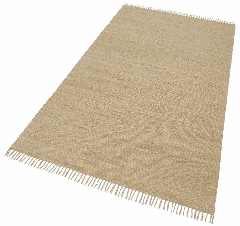 Teppich »Happy Cotton«, Theko, rechteckig, Höhe 5 mm, beidseitig verwendbar in natur-sand