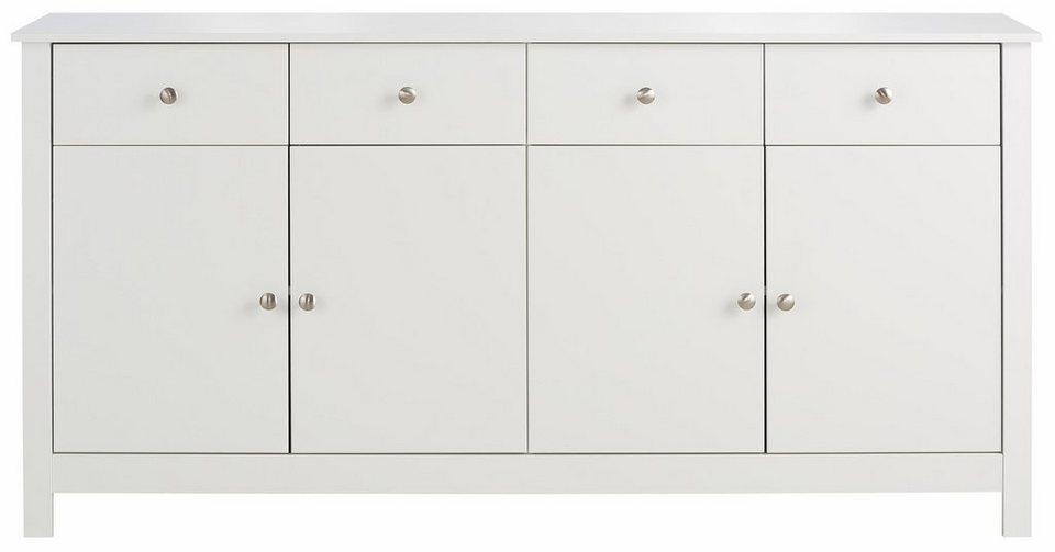Home affaire Sideboard »Justin«, Breite 156 cm in weiß