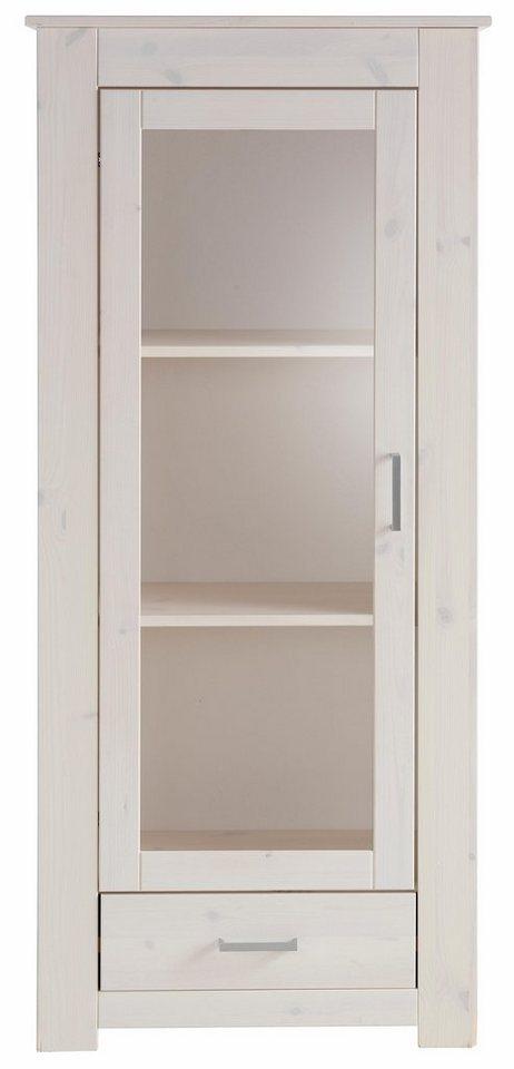 Home affaire Vitrine »Benton«, Höhe 140 cm in weiss