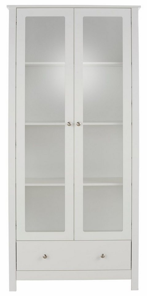 Home affaire Vitrine »Justin«, Höhe 180 cm in weiß