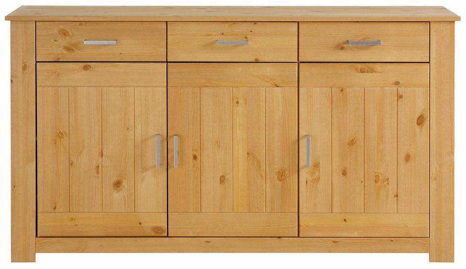 Home affaire Sideboard »Benton«, Breite 145 cm in gelaugt/geölt