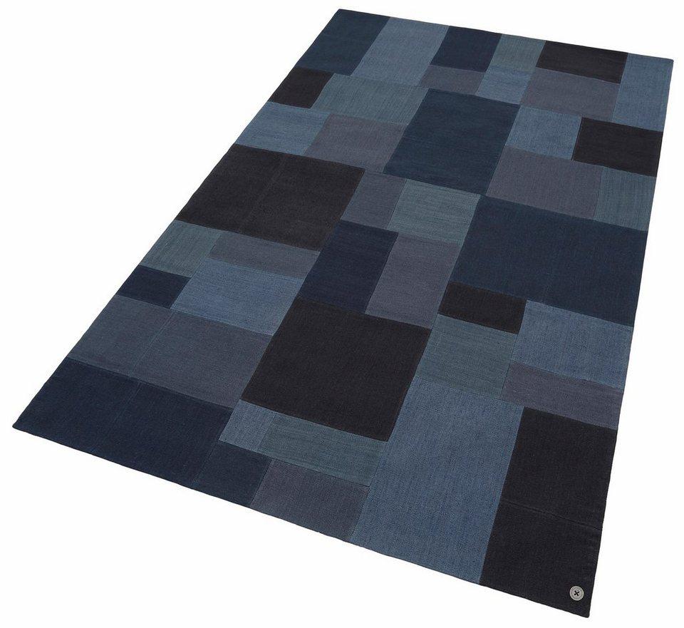 teppich patch denim tom tailor rechteckig h he 5 mm. Black Bedroom Furniture Sets. Home Design Ideas