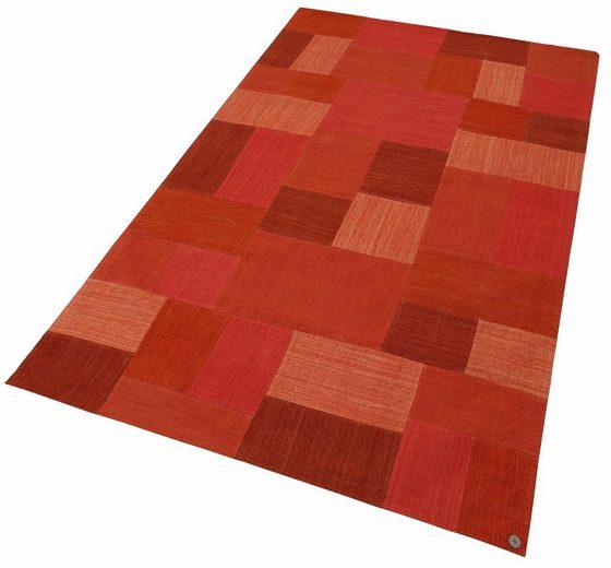 Teppich »Patch Denim«, TOM TAILOR, rechteckig, Höhe 5 mm, reine Schurwolle
