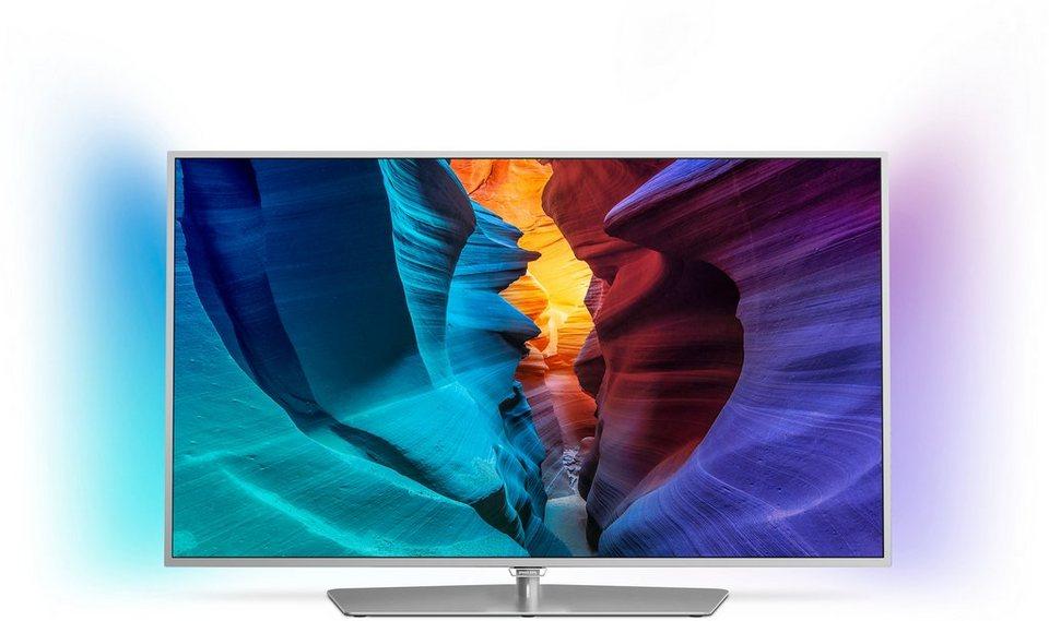 Philips 55PFK6540, LED Fernseher, 139 cm (55 Zoll), 1080p (Full HD) Ambilight, Smart-TV in silberfarben