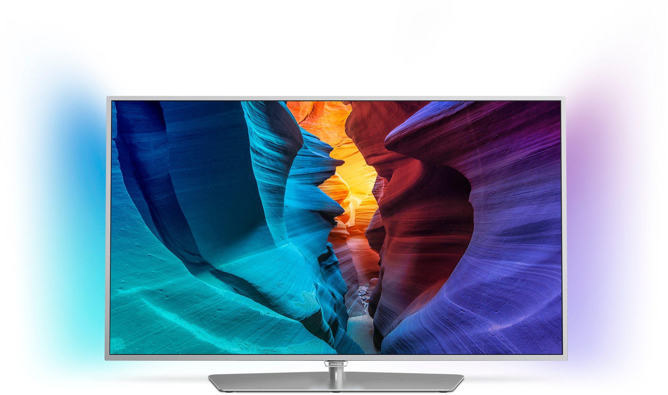 Philips 55PFK6540, LED Fernseher, 139 cm (55 Zoll), 1080p (Full HD) Ambilight, Smart-TV