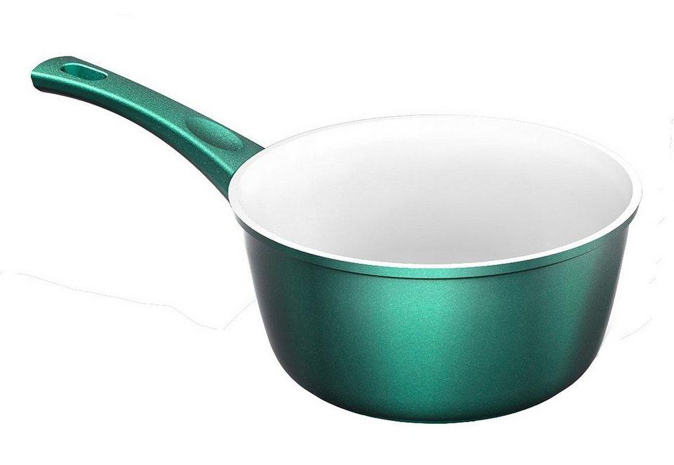 Stielkasserolle, Genius®»Cerafit®-Fusion Smaragdgrün-Edition« in grün