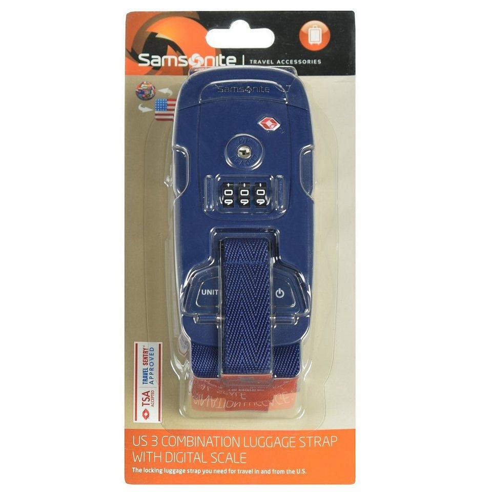 Samsonite Samsonite Travel Accessories Kofferband TSA-Zahlenschloss in indigo blue