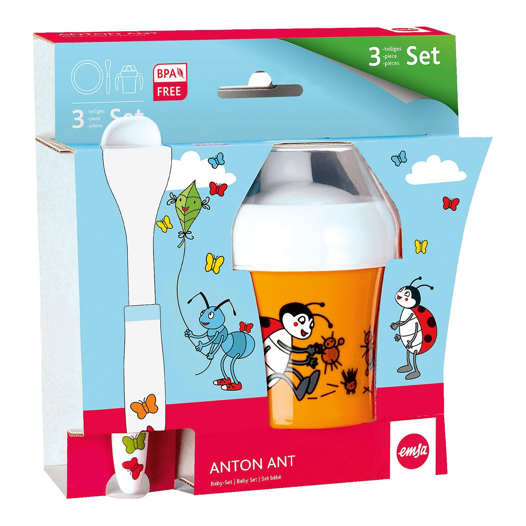 Emsa Baby-Geschirr-Set Anton Ant, 3-tlg.