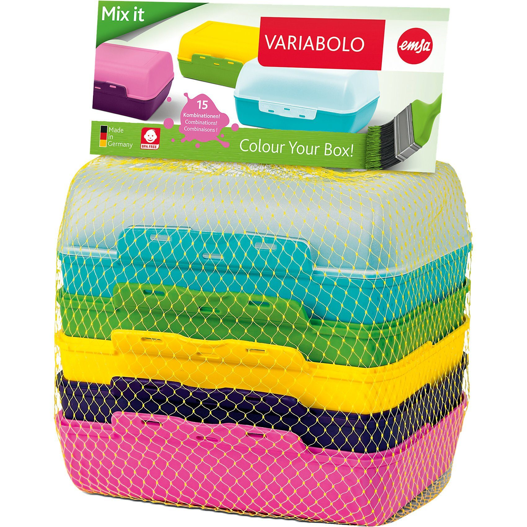 Emsa Brotdose Variabolo Clipbox, 3er Set