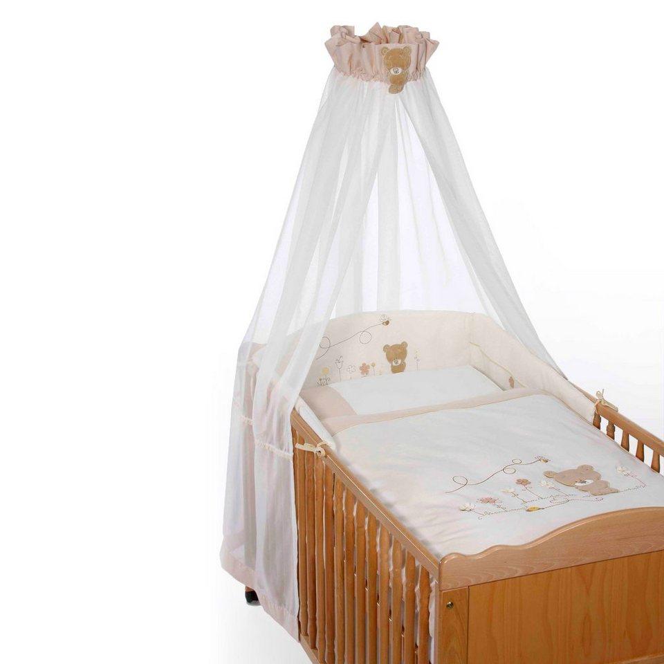 EASY BABY 4-tlg. Babybettausstattung Honey Bear in braun