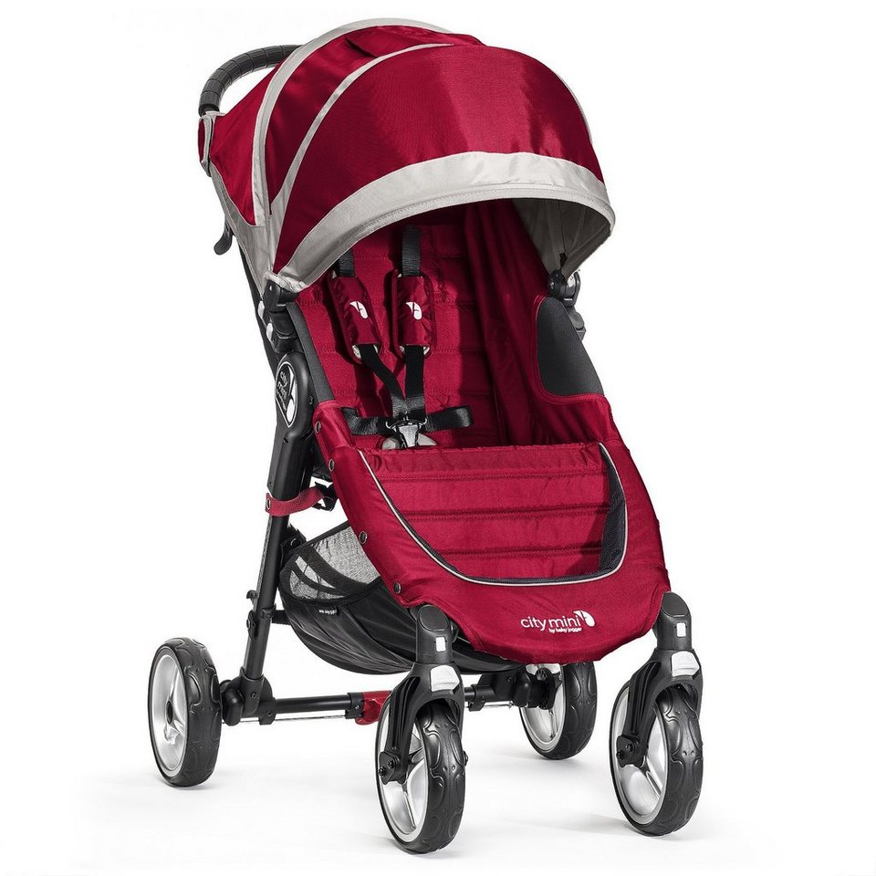BABYJOGGER City Mini 4 Rad Kinderwagen in Crimson / Gray