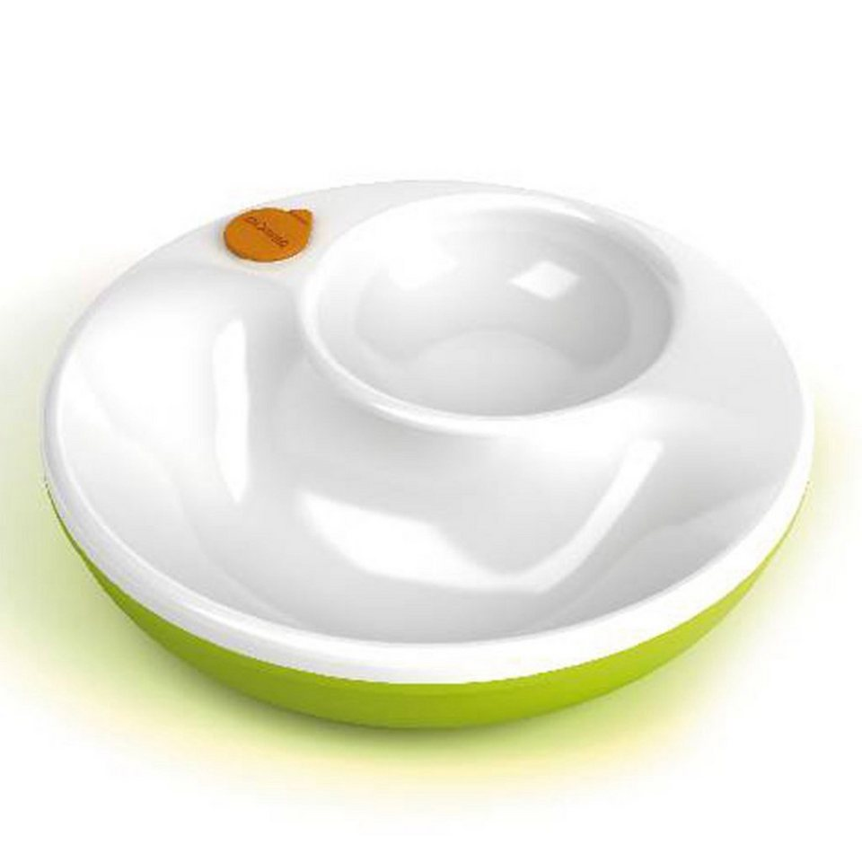 LANSINOH mOmma® Warmhalteteller in weiß