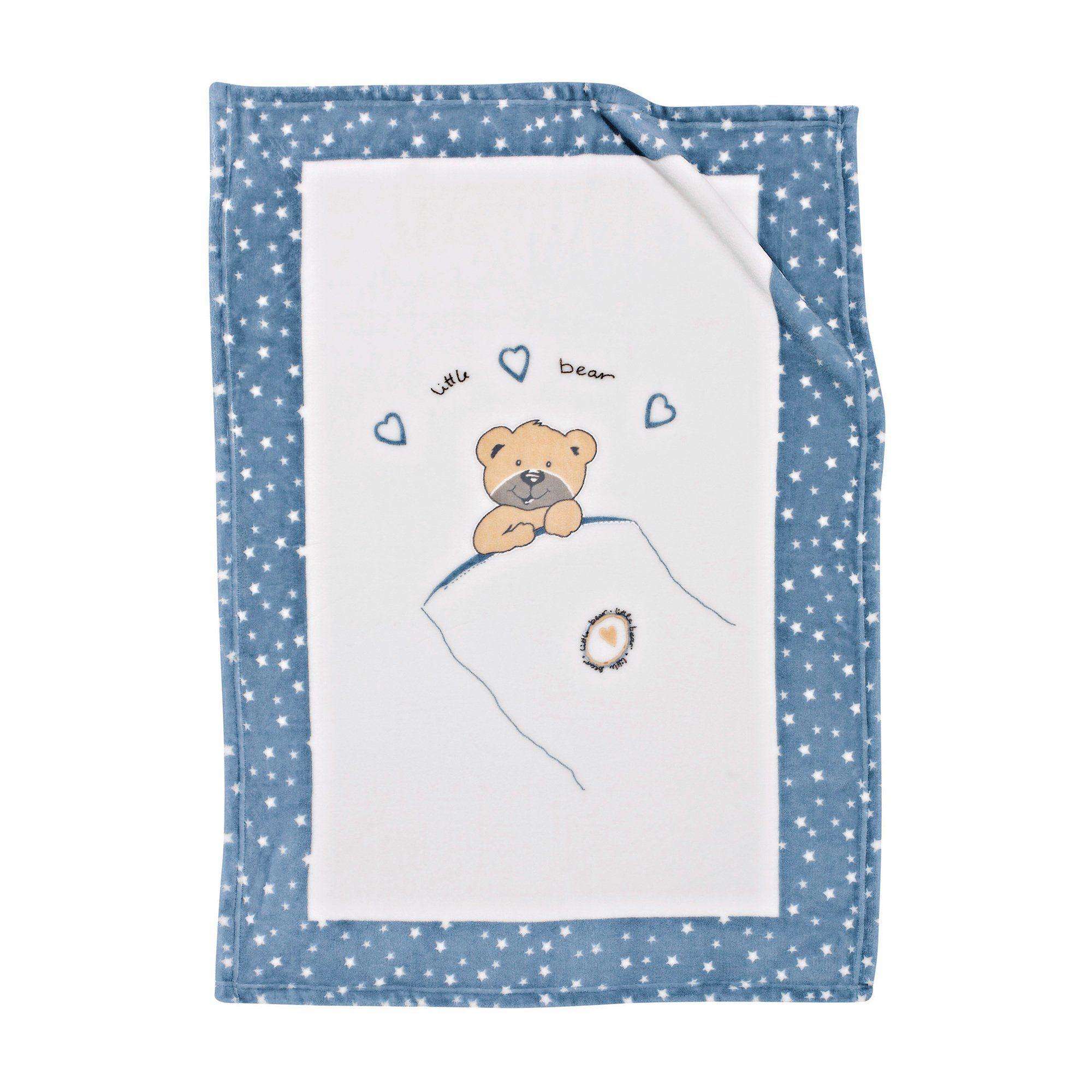 ALVI Babydecke Little Bear 75 x 100 cm