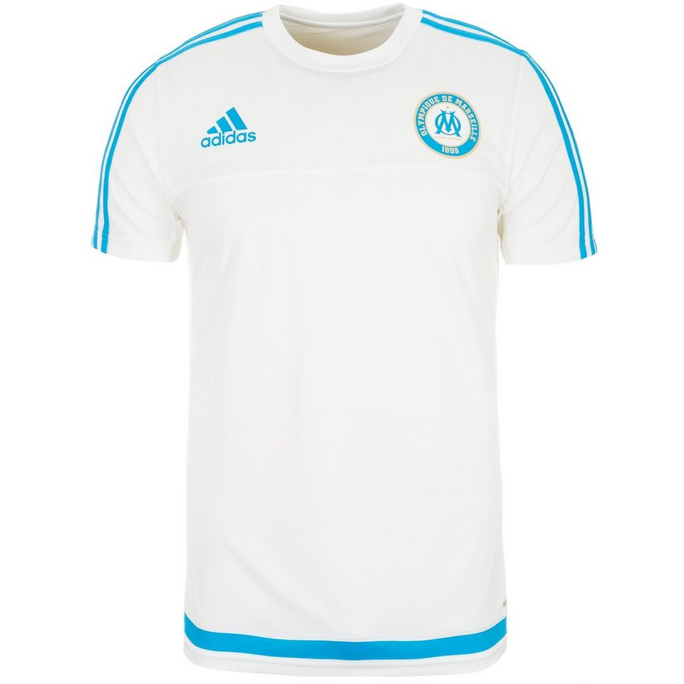 adidas Performance Olympique Marseille Trainingsshirt Herren in weiß / hellblau